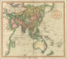 Asia, Asia, Australia & Oceania and Oceania Map By John Cary