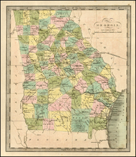 Southeast and Georgia Map By Jeremiah Greenleaf