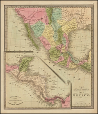 Texas, Southwest, Central America and California Map By Jeremiah Greenleaf
