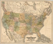 United States Map By Heinrich Kiepert