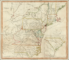 United States, Mid-Atlantic and Southeast Map By John Stockdale