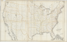 United States Map By David Hugh Burr