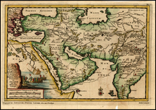 Indian Ocean, India, Central Asia & Caucasus, Middle East and Turkey & Asia Minor Map By Pieter van der Aa