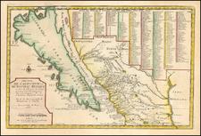 Baja California and California Map By Nicolas de Fer
