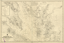 Mid-Atlantic and Southeast Map By British Admiralty