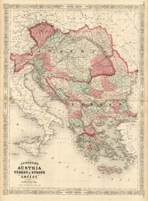 Europe, Hungary, Balkans, Greece and Turkey Map By Alvin Jewett Johnson