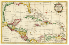 Southeast, Caribbean and Central America Map By Thomas Kitchin