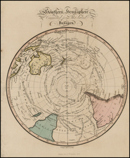 Southern Hemisphere, Australia and New Zealand Map By Fisher & Son