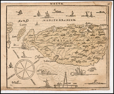 Mediterranean and Balearic Islands Map By Zacharias Heyns