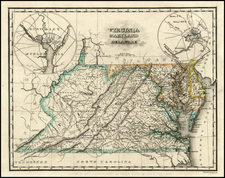 Mid-Atlantic and Southeast Map By Samuel Morse