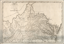 Mid-Atlantic and Southeast Map By Mathew Carey