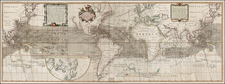 World, Atlantic Ocean, South America, Pacific and America Map By Reiner & Joshua Ottens