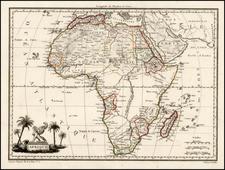 Africa Map By Conrad Malte-Brun