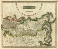 Russia, Central Asia & Caucasus and Russia in Asia Map By John Thomson
