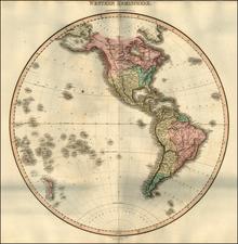 Western Hemisphere, South America, Pacific and America Map By John Pinkerton