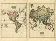 World, World, Atlantic Ocean, Pacific and Oceania Map By John Pinkerton