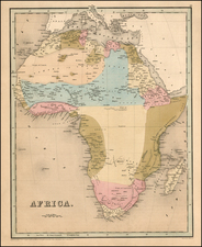 Africa Map By Thomas Gamaliel Bradford