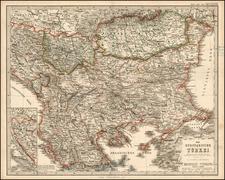 Balkans and Turkey Map By Adolf Stieler
