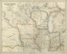 Midwest Map By Archibald Fullarton & Co.