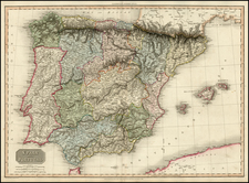 Spain and Portugal Map By John Pinkerton