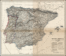Spain and Portugal Map By Carl Flemming