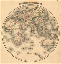Eastern Hemisphere, Atlantic Ocean and Oceania Map By OW Gray