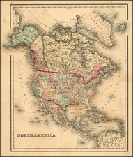 North America Map By O.W. Gray