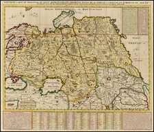 Russia, Ukraine, Central Asia & Caucasus and Russia in Asia Map By Henri Chatelain