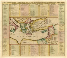 Greece, Turkey, Mediterranean, Balearic Islands, Middle East and Turkey & Asia Minor Map By Henri Chatelain