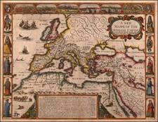 Europe, Italy, Turkey, Mediterranean and Turkey & Asia Minor Map By John Speed