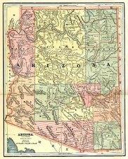 Southwest Map By George F. Cram