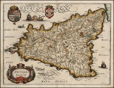 Italy, Mediterranean and Balearic Islands Map By Matthaeus Merian