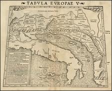 Balkans and Italy Map By Sebastian Munster