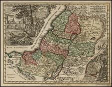 Holy Land Map By Matthaus Seutter
