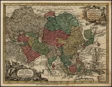 Asia Map By Matthaus Seutter