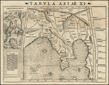 India, Southeast Asia and Central Asia & Caucasus Map By Sebastian Munster