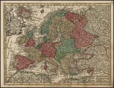 Europe Map By Matthaus Seutter