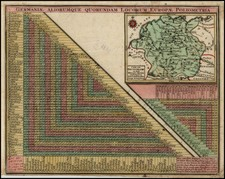 Netherlands and Germany Map By Matthaus Seutter