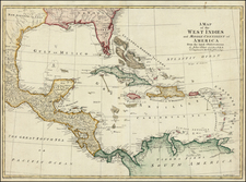 South, Southeast, Caribbean and Central America Map By John Blair