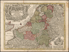 Luxembourg and Mediterranean Map By Matthaus Seutter