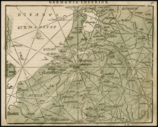 Netherlands and Germany Map By Zacharias Heyns
