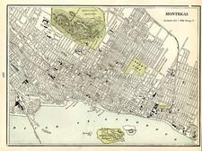Canada Map By George F. Cram