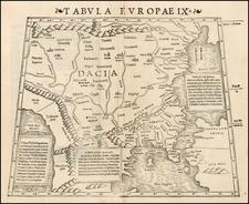 Balkans, Greece, Turkey, Balearic Islands and Turkey & Asia Minor Map By Sebastian Münster