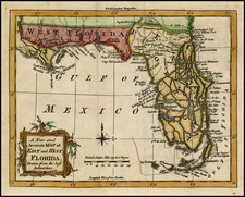 Florida and Southeast Map By London Magazine