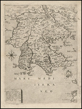 Mediterranean, Balearic Islands and Greece Map By Giovanni Francesco Camocio