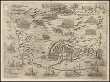 Mediterranean and Balearic Islands Map By Giovanni Francesco Camocio