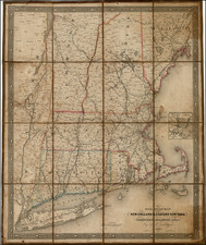 New England Map By J.H. Goldthwait