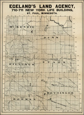 Plains Map By Brown, Treacy & Sperry Co.