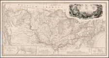 United States, South, Midwest, Plains and Rocky Mountains Map By Karl Bodmer / Prince Alexander Phillip Maximilian zu Wied