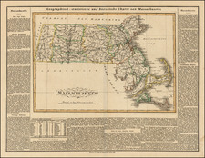 New England and Massachusetts Map By Carl Ferdinand Weiland